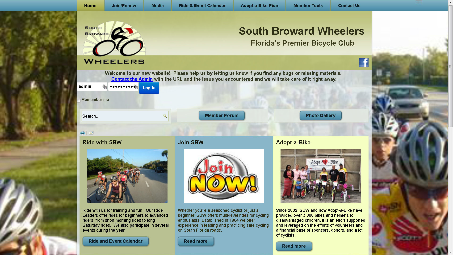 South Broward Wheelers New Site